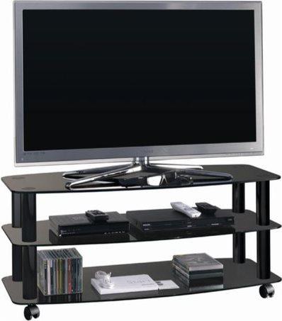 Ciatti mobile porta tv portatile con ruote colore nero opening nero 41258 - Porta tv nero ...