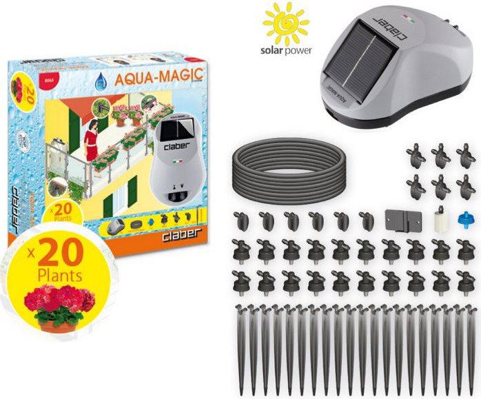 Claber Set Irrigazione Giardino Balcone Per 20 Piante   Aqua Magic System    8063
