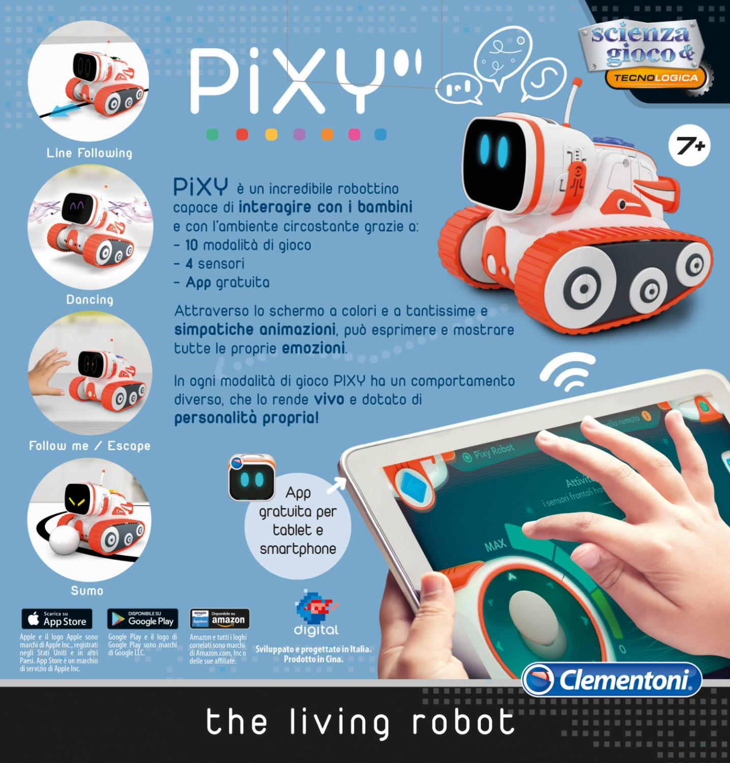 Clementoni 19078 Pixy The Living Robot