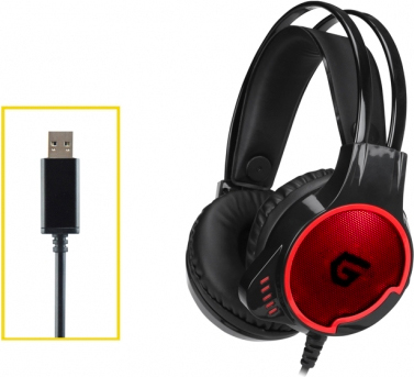 Conceptronic ATHAN01B Cuffie Gaming 7.1 con microfono USB