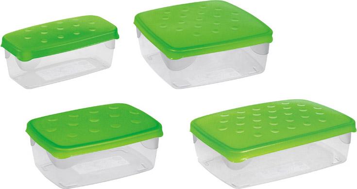 Cosmoplast Contenitori per Alimenti con chiusura Ermetica cm 20x20x8 h 2 lt 121