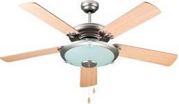 Dcg eltronic ventilatore da soffitto con luce 5 pale con for Lampadario a pale brico