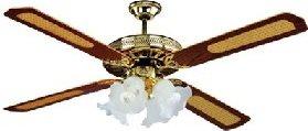 Dcg eltronic ventilatore da soffitto con luce 4 pale for Lampadario a pale brico