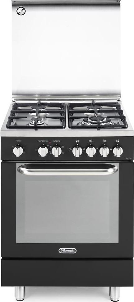 De longhi cucina a gas 4 fuochi forno elettrico multifunzione ventilato con grill larghezza x - Cucina con forno ventilato ...