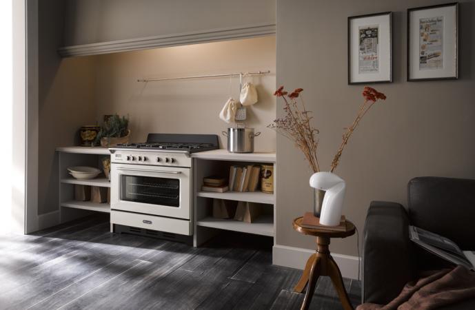 Cucina a gas de longhi mem 965 ba forno elettrico ventilato 90x60 prezzoforte 74831 - Cucina elettrica de longhi ...