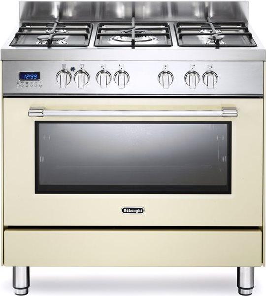 De longhi cucina a gas 5 fuochi forno a gas ventilato for Stufe a gas metano de longhi