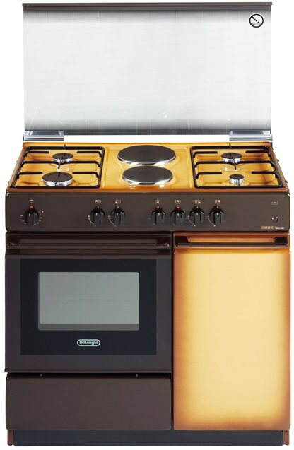 Cucina a gas de longhi sek 8542 n forno elettrico 86x50 for Stufe a gas metano de longhi