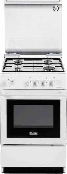De longhi cucina a gas 4 fuochi forno elettrico con grill for Stufe a gas metano de longhi