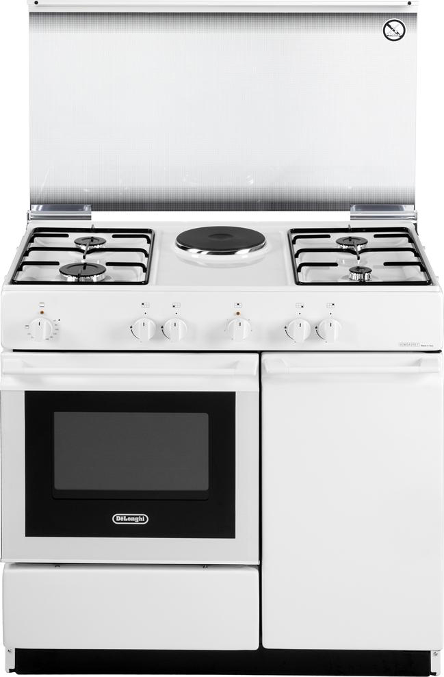 Cucina a gas de longhi sew 8541 n forno elettrico 86x50 - Cucine a gas con forno elettrico ...