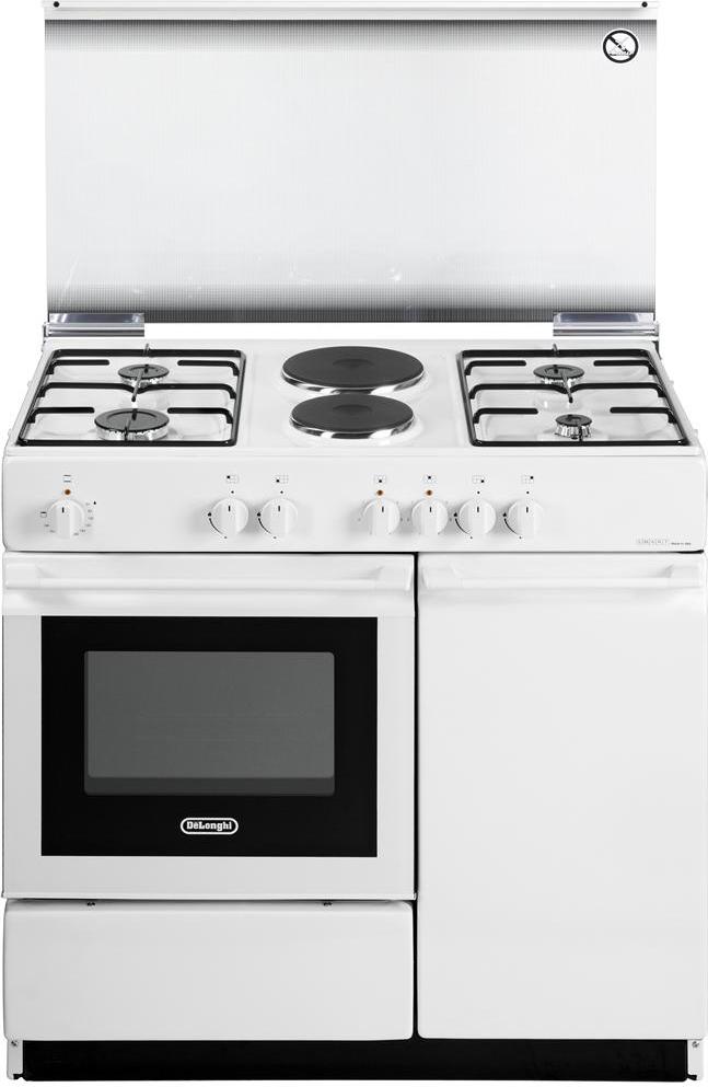 Cucina a gas de longhi sew 8542 n forno elettrico 86x50 for Stufe a gas metano de longhi