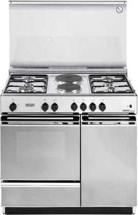 De Longhi Cucina a Gas 4 Fuochi + 2 Piastre Forno Elettrico con ...