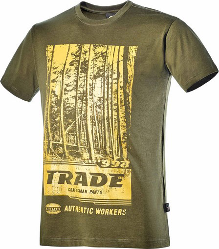 T Shirt Maglietta a Maniche corte in Cotone Traspirante Taglia L colore Verde 171200 70226 T Shirt Graphic
