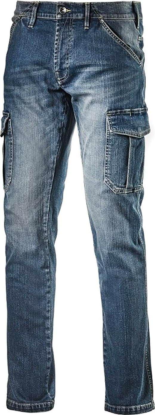 Dettagli su Diadora Pantalone da Lavoro Multitasche Jeans Taglia 46 172115 Cargo Denim