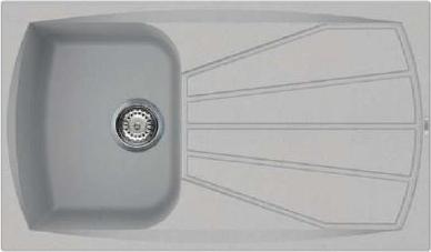 Lavello cucina elleci lavello fragranite antracite lgm40059nna 88031 - Vasca cucina fragranite ...