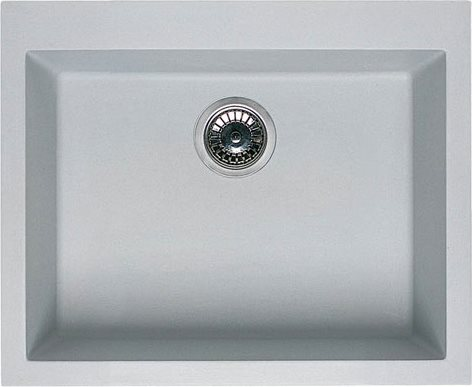 Lavello Cucina Fragranite 1 Vasca Incasso Larghezza 57 cm materiale  Granitek colore Titanio 68 - LGQ10568 Quadra 105 Serie Quadra