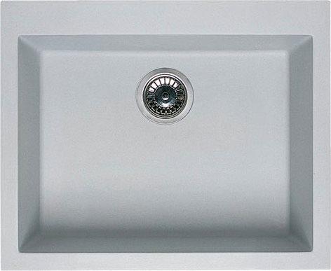 Elleci lavello cucina incasso 1 vasca larghezza 57 cm materiale metaltek colore alluminio 79 - Lavello cucina incasso ...