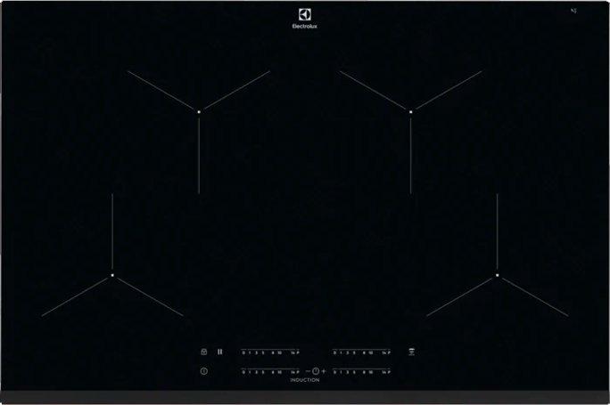 EIT 81443 Serie Infinite Piano Cottura Induzione 4 Fuochi 80 cm  Vetroceramica colore Nero