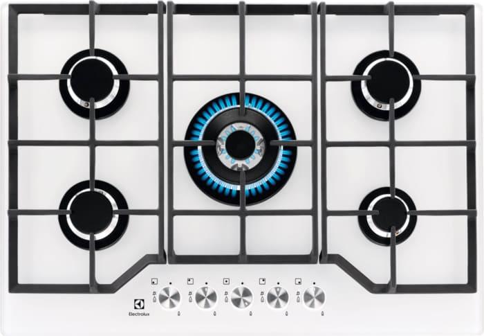 Electrolux Piano Cottura 5 Fuochi a Gas da Incasso (1 Bruciatore Wok ...