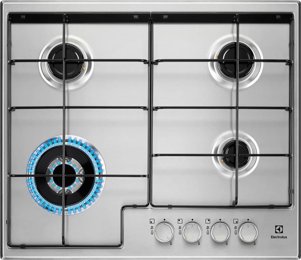 Electrolux Piano cottura 4 Fuochi a gas da incasso (1 Bruciatore Wok ...
