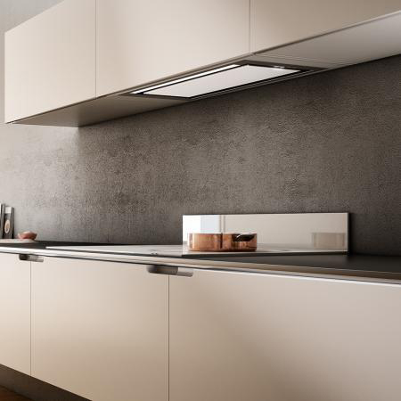 Cappa Cucina Aspirante Sottopensile Incasso Larghezza 72 cm Profondità 29  cm colore Acciaio - PRF0095073 HIDDEN IX/A/90