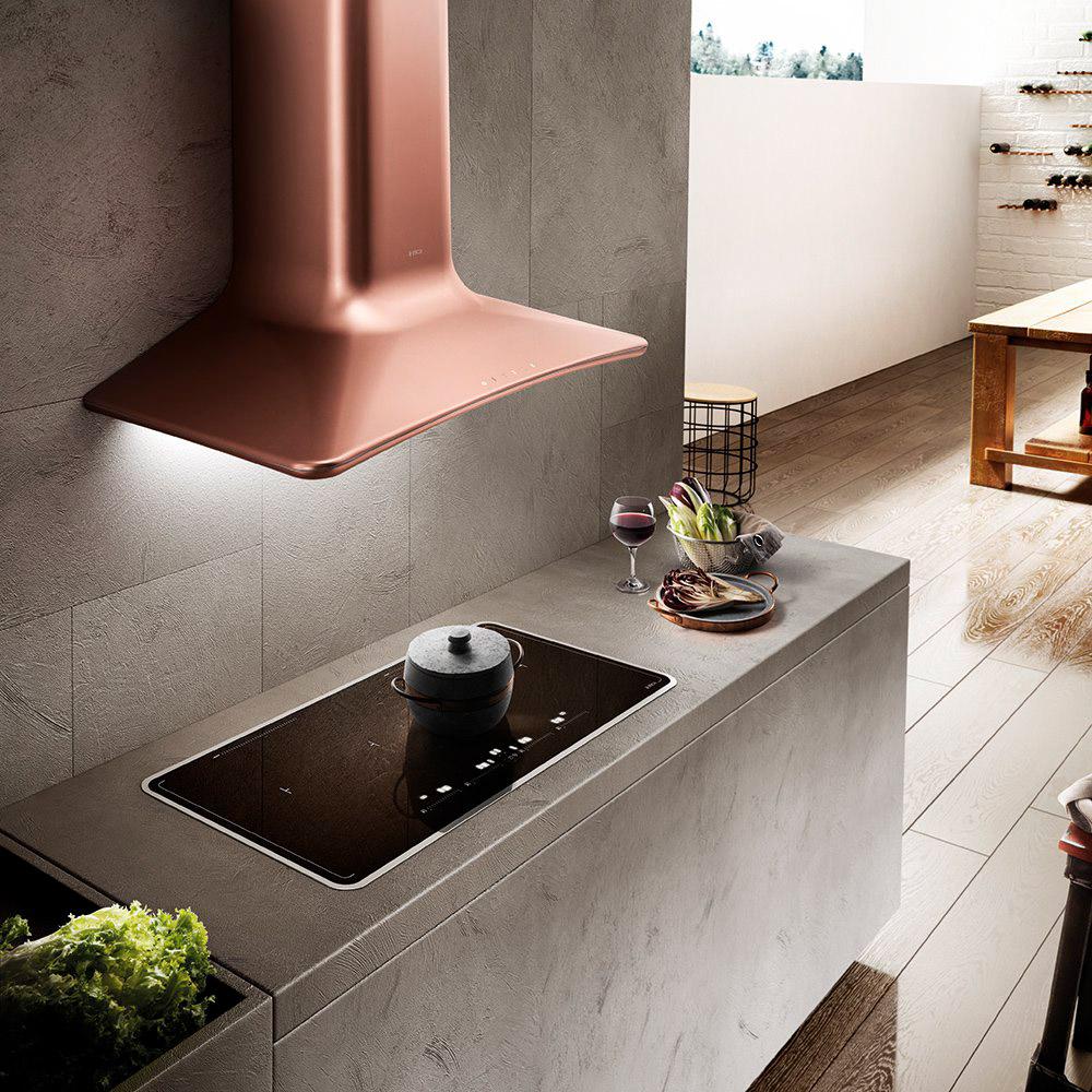 Cappa elica sweet copper f 85 prf0120672 cappa cucina 85 cm filtrante a parete in offerta su - Cappa filtrante cucina ...