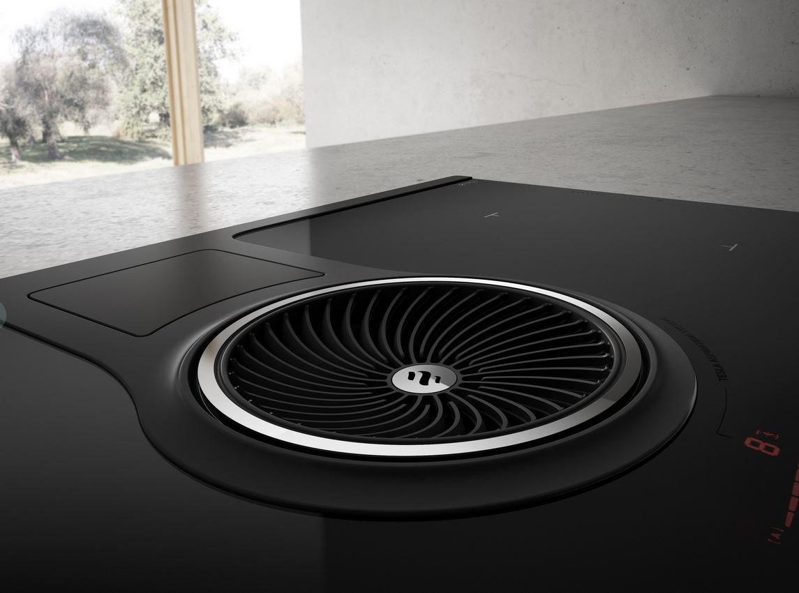 Piano Cottura Aspirante Elica Prezzo piano cottura induzione elettrico aspirante 2in1 cappa cucina integrata 4  fuochi da incasso larghezza 83 cm in vetro colore nero - prf0120977