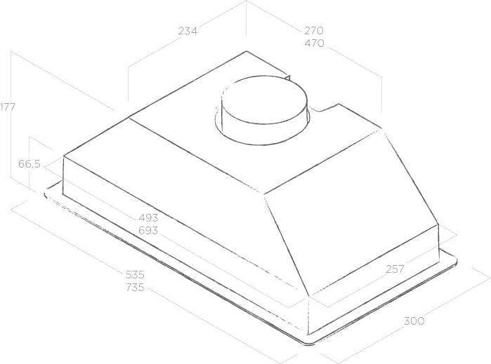 Elica ERA C WH//A//80 Era C colore Bianco Aspirante Cappa da cucina Dimensioni 80 cm Installazione Sottopensile