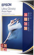 Epson Carta fotografica A4 lucida 300 grmq 15 fogli - C13S041927 Ultra Glossy