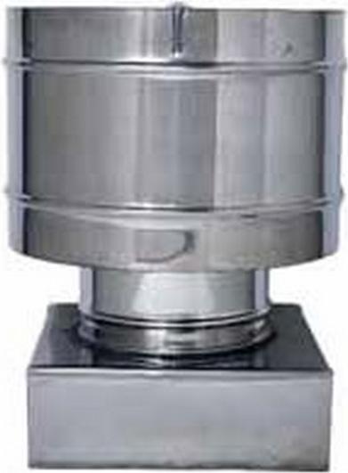 Europrofil - Fumaiolo Cappello a Botte in Acciaio Inox Terminale Antivento  attacco Quadrato Dimensioni 37x37 cm adatto a Stufe e Camini - FUMACC370X370 104c9291013d