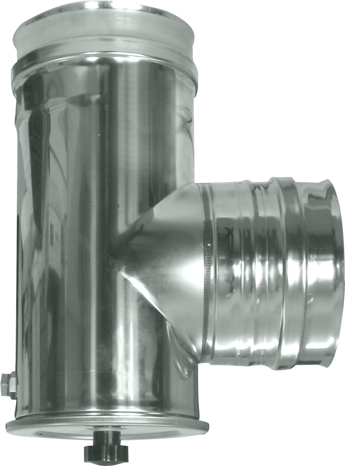 Europrofil - Raccordo a T in Acciaio Inox per Tubi con Tappo per Ispezione  attacco Femmina Femmina Dimensioni Ø cm. 12 adatto a Stufe e Camini - GT912 4d2af3267a51