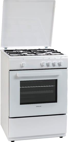 Cucina a Gas 4 Fuochi Forno a Gas Libera Installazione Larghezza x  Profondità 60x60 cm colore Bianco - FXGC66