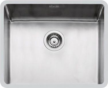 Lavello Cucina 1 Vasca Sottotop Larghezza 50 cm materiale Acciaio Inox  finitura Spazzolata - 2155850 KE R15