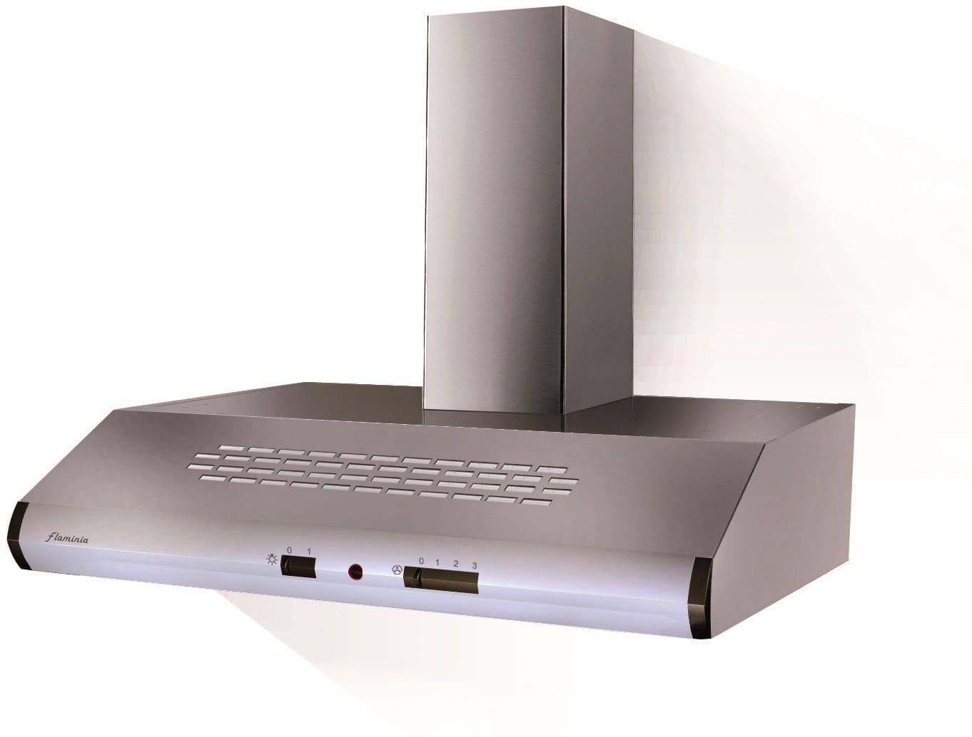 Cappa Cucina Aspirante a Parete Larghezza 90 cm Profondità 50 cm colore  Inox - 300.0544.464 Ionica X A90