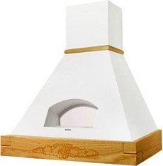 Cappa Cucina Aspirante a Parete Larghezza 90 cm (SENZA TRAVE IN LEGNO)  colore Bianco - 321.0516.437 Agorà WH9016 A90 SC Linea Rustiche