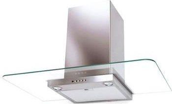 Cappa Cucina Aspirante a Parete Larghezza 90 cm colore Inox e Vetro -  325.0531.878 NICE X/V A90 | Nice Linea T-Shape