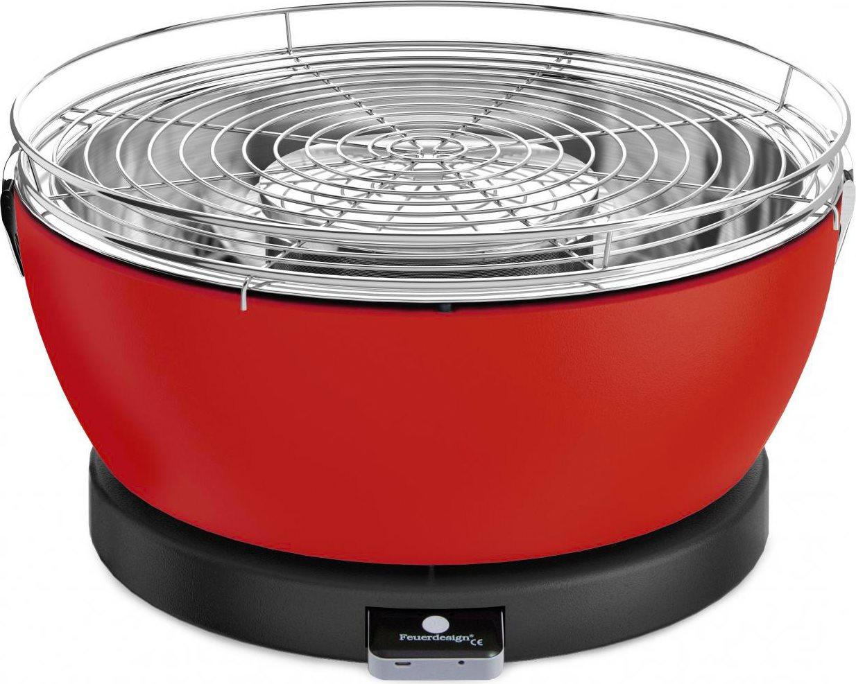 Feuerdesign barbecue portatile da tavolo a carbonella bbq da giardino 33 cm colore rosso - Barbecue portatile a carbonella ...
