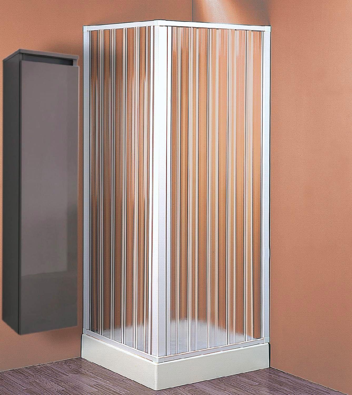Box doccia Cabina doccia Angolare a soffietto in PVC Pannelli in Acrilico  Dimensioni 110x110x185h cm - BK102001 Sky