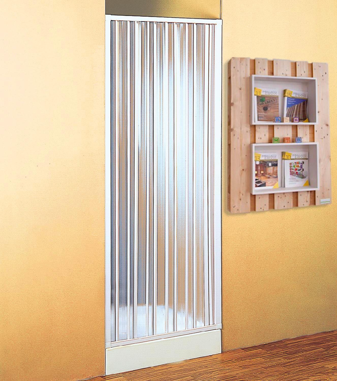 Box doccia Cabina doccia 1 lato Porta a soffietto in PVC Dimensioni 110 x  185h cm - BK121001 Point