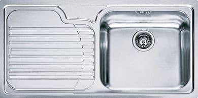 Lavelli Cucina Acciaio Inox Franke.Franke Lavello Cucina 1 Vasca Incasso Con Gocciolatoio Sx Larghezza
