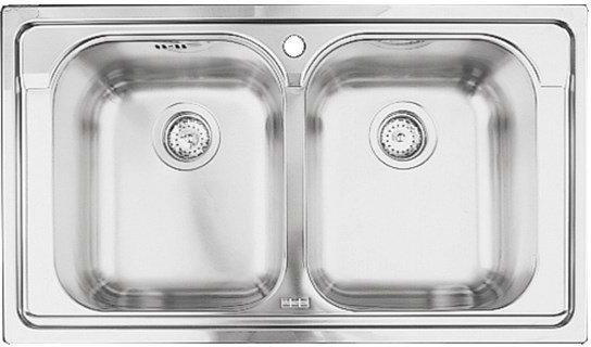 Franke Lavello Cucina Incasso 2 Vasche Larghezza 86 cm materiale ...