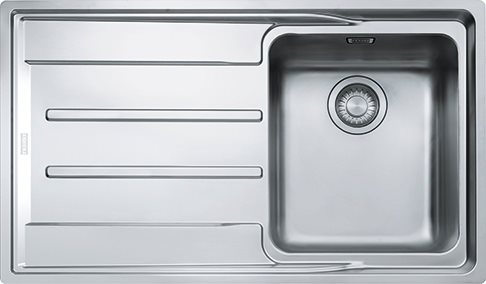 Franke Lavello Cucina Incasso Semifilo 1 Vasca con Gocciolatoio Dx ...