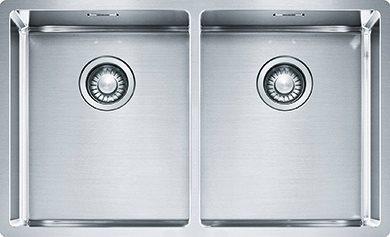 Lavello Cucina 2 Vasche Incasso Larghezza 74 cm materiale/finitura Acciaio  Inox - 127.0370.188 BXX 220/120