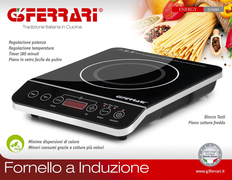 G3 Ferrari Piano cottura induzione 1 Piastra Induzione Display Touch ...