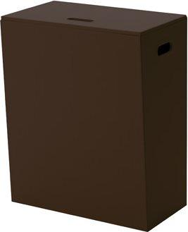 GEDY Cesto Portabiancheria bagno cm.49,2x29x60,2 Wengè 1539 Kyoto Colour