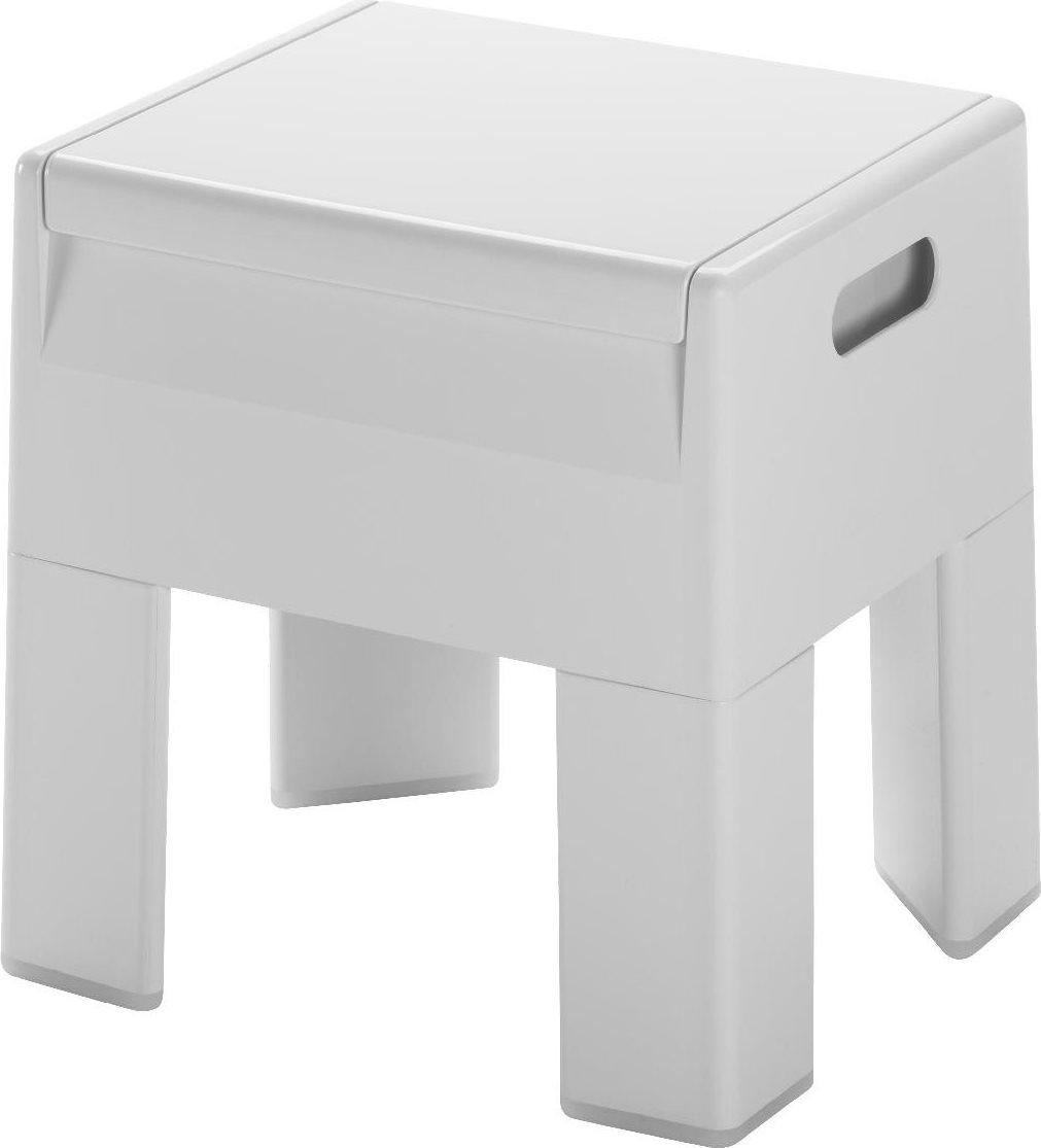 Sgabello Bagno Gedy.Sgabello Bagno Contenitore In Resina 38 5 X 32 5 X 40 3 Cm Colore Bianco 2073 Serie G Box