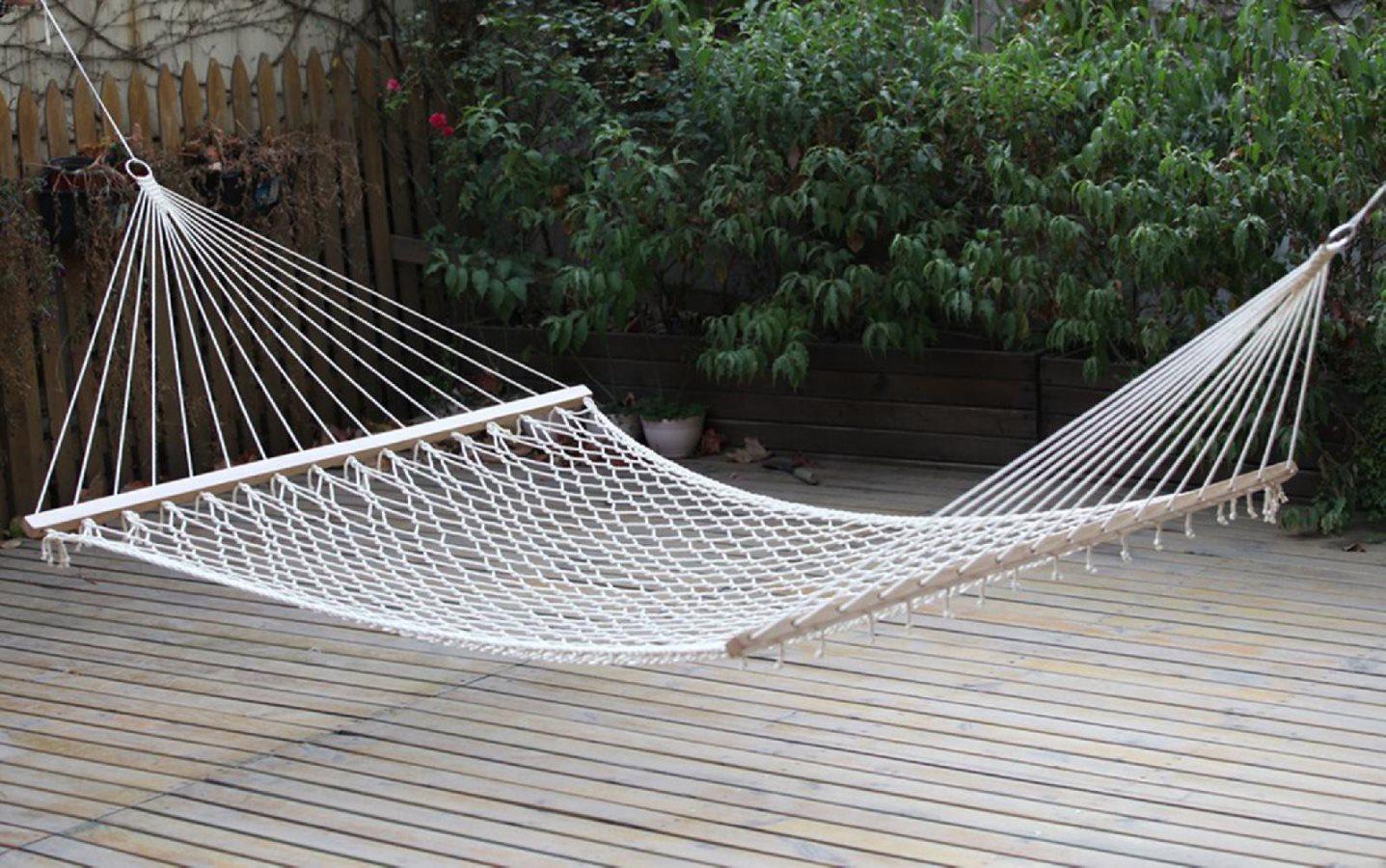 Giardini del re amaca a rete doppia con asse in legno cm - Beole da giardino prezzo ...