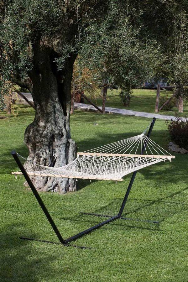 Giardini del re amaca a rete doppia con asse in legno cm - Giardini del re ...