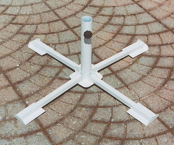 Giardini del re base per ombrelloni a croce da giardino in acciaio pieghevole telescopico - Ombrelloni da giardino brico ...