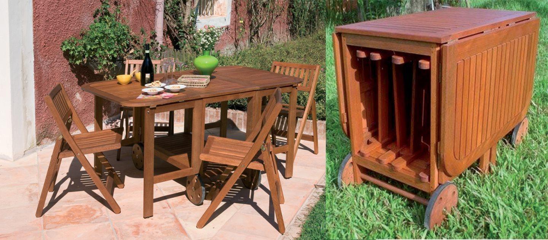 Tavolo e sedie da giardino in legno boston 150x90x70 for Offerte set tavolo da giardino