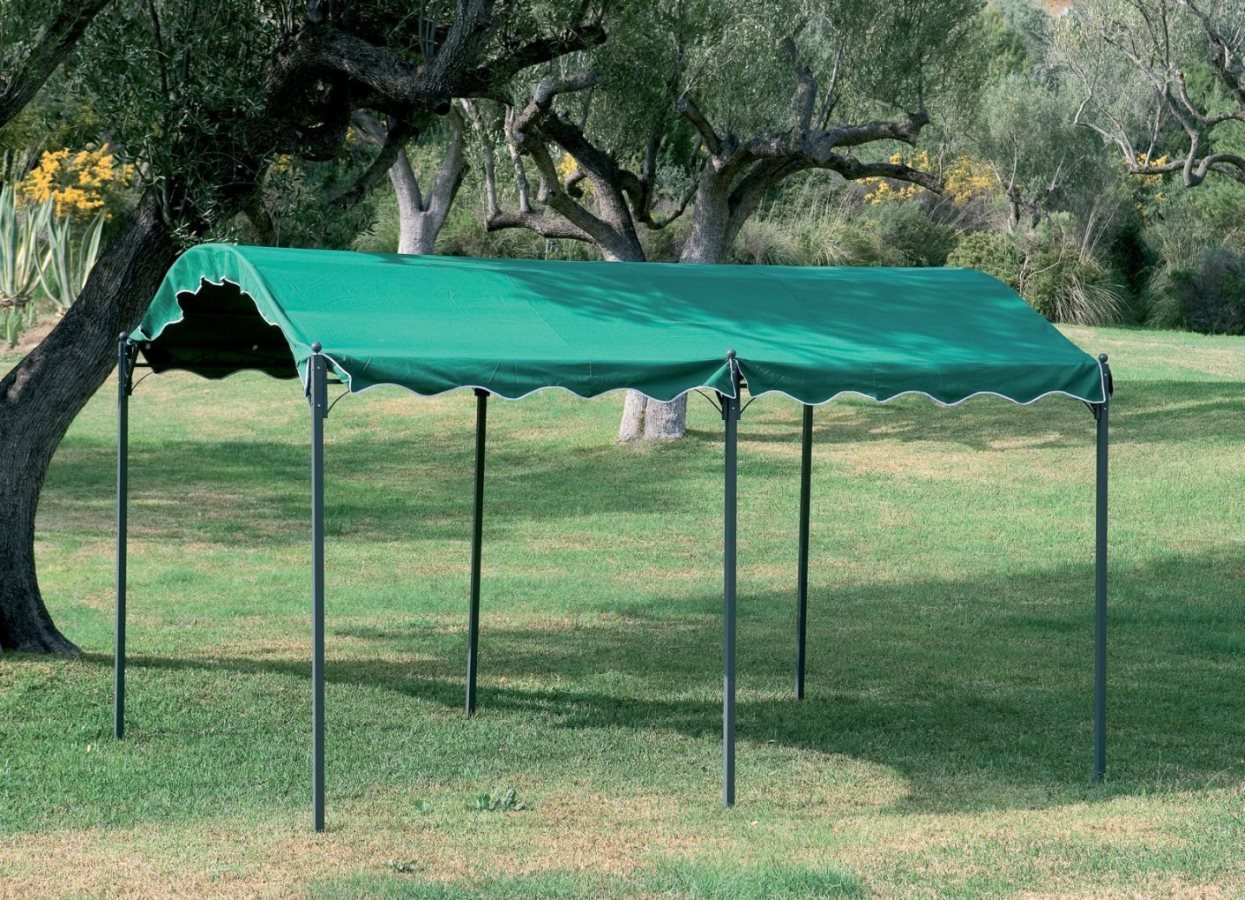 gazebo da giardino 3x4 carport in metallo. Black Bedroom Furniture Sets. Home Design Ideas